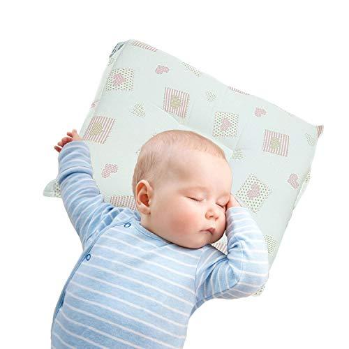 Almohada de bebé utilizada para prevenir la plagiocefalia, previene la cabeza plana de los recién nacidos (rosa)