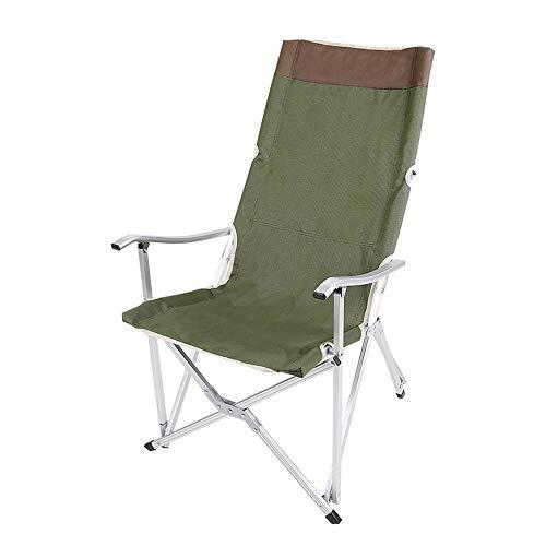 Outdoor klapstoel van aluminiumlegering, hoge campingstoelen, licht, draagbaar, Europese vrijetijdstijd, roodgroen, geschikt voor camping, vakantie, tuin, reizen, vissen, strand, barbecue, 59 × 56 × 100 cm