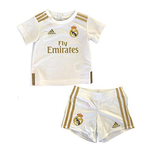 adidas Real H Baby Equipación, Unisex bebé, Top:White Bottom:White, 80 (9/12 Meses)