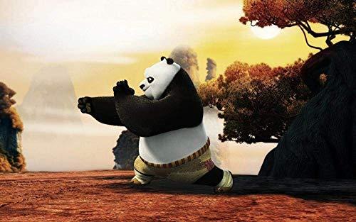 TTbaoz 1000 Rompecabezas para Adultos Kung Fu Panda-Un Panda practicando Kung Fu Desde el Amanecer - 38 * 26cm, Carteles incluidos-Rompecabezas Imposible-Marvel-Color-Juguetes educativos