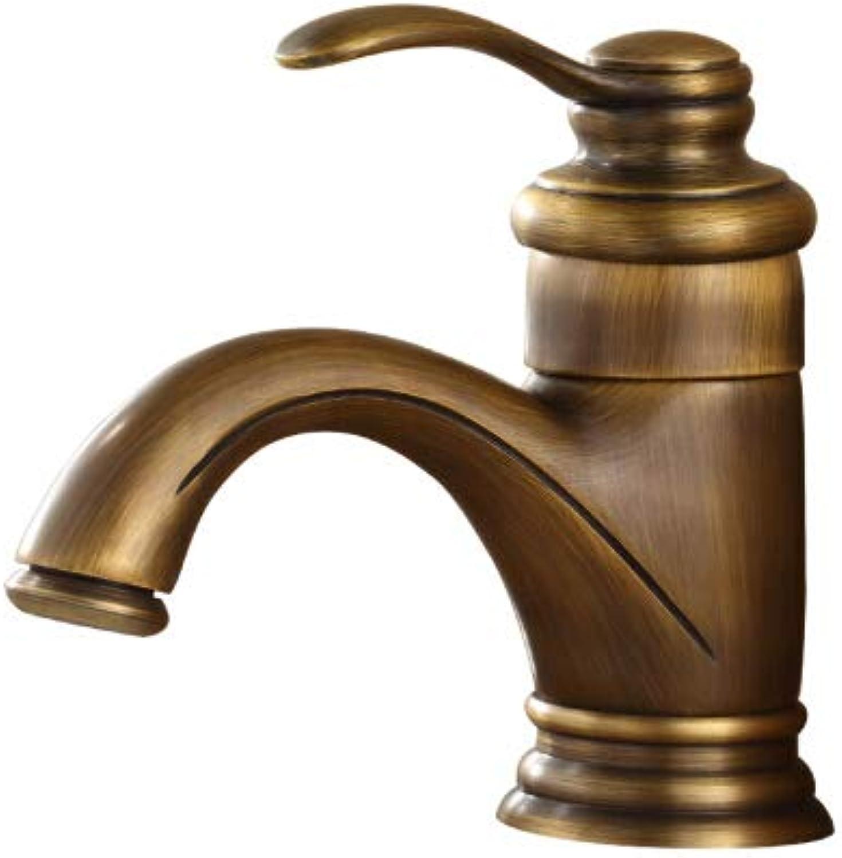 Antique Copper Basin Mixer Faucet Hot and Cold Wash Basin Retro Faucet