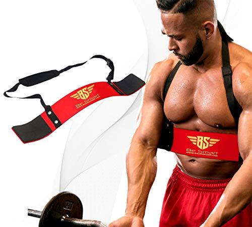 BeSmart BS Biceps aislador Blaster barra de levantamiento de pesas brazo entrenamiento bombardero Curl (rojo)