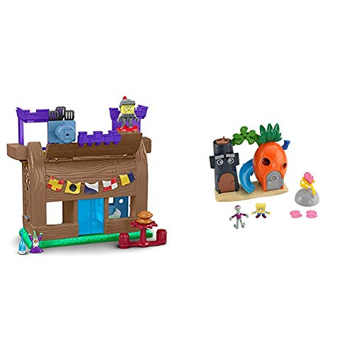 Fisher-Price Imaginext Spongebob Krusty Krab Kastle [Amazon Exclusive] & Imaginext Spongebob Bikini Bottom Playset, Preschool Toy for Kids 3 Years...
