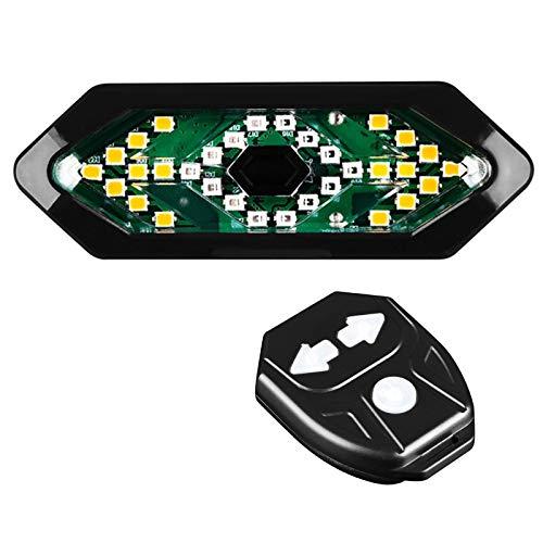 Luces traseras con intermitentes, recargables por USB, luz trasera para bicicleta, luz LED ultrabrillante, freno de bicicleta, mando a distancia inalámbrico, resistente al agua