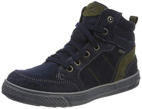 Superfit Jungen LUKE leicht gefütterte Gore-Tex Sneaker, BLAU/GRÜN 8000,32 EU Weit