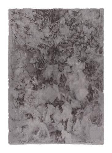 Schöner Wohnen Neu Soft Shaggy Teppich Tender - Farben: Weiß, Silber, Grau, Anthrazit, Caramel | Ultra weicher Flauschteppich | bei 30° waschbar, Farbe:Grau, Größe:120 x 180 cm