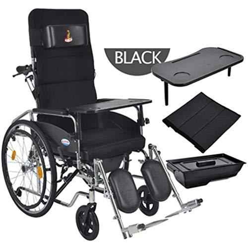 Wtbew-u zelfrijdende rolstoel, inklapbaar, licht, met verstelbare pedalen met handrem en verstelbare leuning