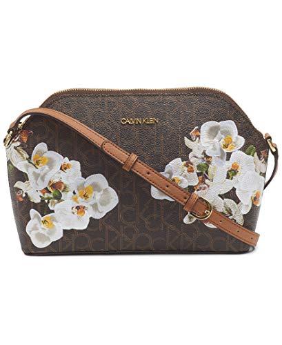 Calvin Klein Janae Crossbody, Brown/Khaki Orchid