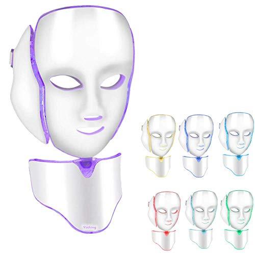 LED Photon Máscara Máquina del rejuvenecimiento de la piel del retiro del acné de la arruga de la máscara del fotón 7 Colors De La Piel Blanqueamiento Facial Anti arrugas acné (2#)