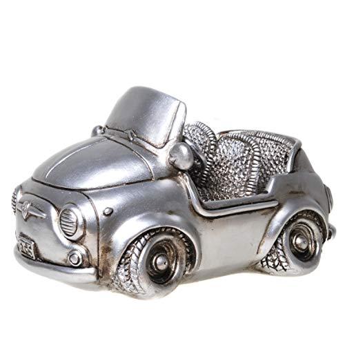 UDO Schmidt 89240 spaarpot Sport Cabrio Mini antiek zilver auto decoratie spaarvarken figuur