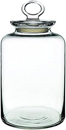 Preisvergleich für Dajar Glasbehälter mit Deckel 2.64 l PASABAHCE, Glas, Transparent 14 x 14 x 26 cm