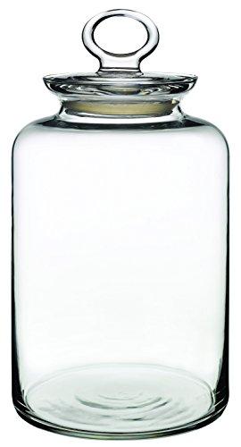 Dajar Glasbehälter mit Deckel 2.64 l PASABAHCE, Glas, Transparent, 14 x 14 x 26 cm