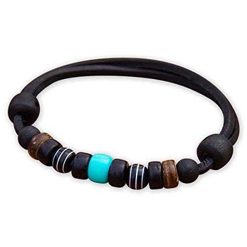 HANA LIMA ® Lederarmband Surferarmband Herren Damen Armband Herrenarmband Damenarmband
