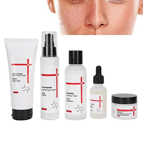 Kit hidratante para el cuidado de la piel, set para el cuidado de la piel, suero hidratante, loción hidratante, limpiador facial crema antienvejecimiento tónico antienvejecimiento para rostro y cuer