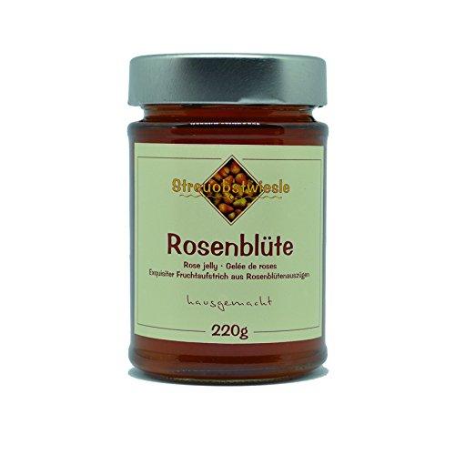 Streuobstwiesle Rosenblüte - 220 g Exquisiter Rosenblüten Fruchtaufstrich - Gelee - mit hohem natürlichem Fruchtsaftanteil