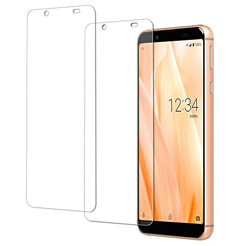 【2枚セット】AQUOS Sense3 Basicガラスフィルム AQUOS Sense3 Basic SHV48 / Android One S7 フィルム 日本旭硝子製 強化ガラス 液晶保護カバー 貼り付け簡単 硬度9H 防指紋 気泡ゼロ