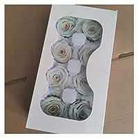素朴な家の装飾 プリザーブドローズフラワー不滅ローズ4-5CM直径母の日DIYウエディング永遠の命の花材ギフト8本/箱、レベルB .アートフラワー (Color : 28)
