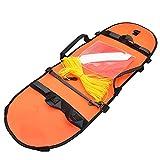 DealMux Boya De Buceo De Pesca Submarina Bandera De Señal Inflable Flotador Inflable Técnico De Alta Visibilidad Para Buceo Pesca Con Lanza Buceo Naranja