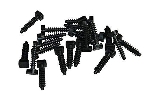 Soporte de impacto para clavar, color negro, soporte para bridas, tacos de fijación