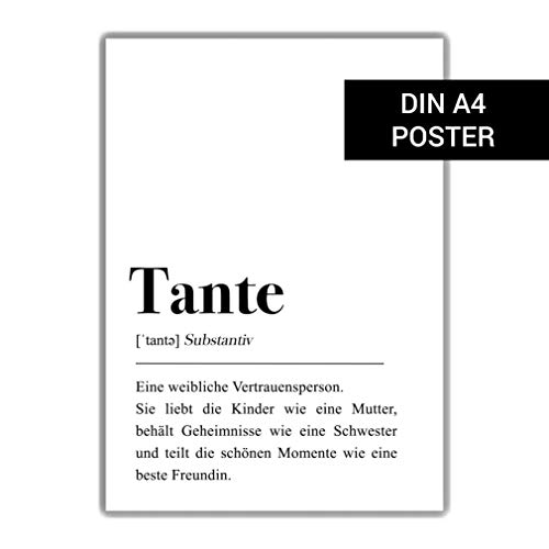 Tante Definition: DIN A4 Poster