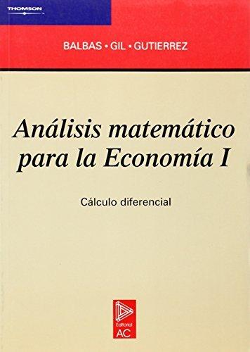 Análisis matemático para la economía I (Matemáticas)