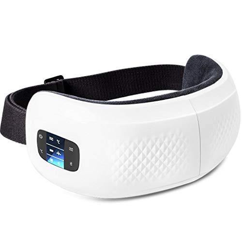 Gafas de masaje con compress-airbag amasado-multi-frecuencia masajeador caliente vibración ocular, la música Bluetooth, recargable, masajeador for las ojeras, manchas oculares calmantes y dormir ayuda