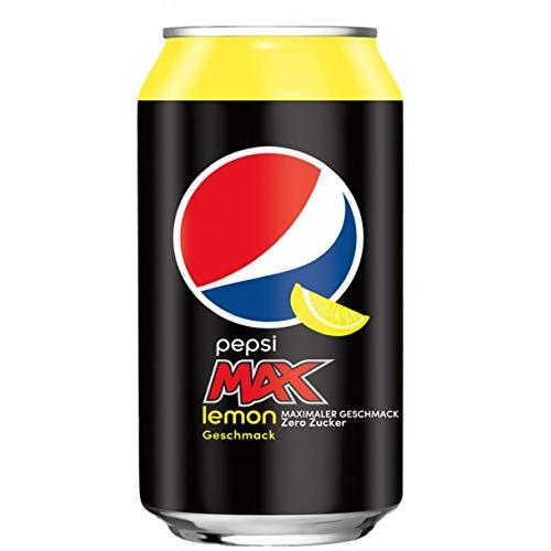 24 x Pepsi Max Lemon Einweg-Dose (24 x 0,33 L) Zuckerfrei