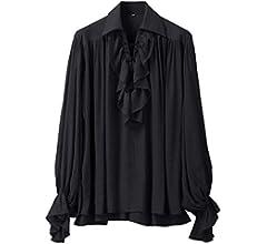 GRACEART Hombres Pirata Camisa Disfraz (X-Small): Amazon.es: Ropa ...