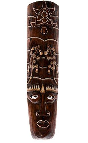 Ciffre 50cm Holz Maske Holzmaske Deko Wandmaske Schildkröte Gecko HM5000015