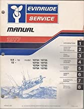 1977 EVINRUDE OUTBOARD MOTOR 9.9 & 15 HP SERVICE MANUAL