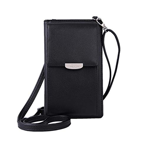 Small Shoulder Bag, shenruifa Mobile Phone Bags Women with Strap, Mini Phone Bag Crossbody Bag PU Fashion Cell Phone Purse with Card Slots Shoulder Bags for Student