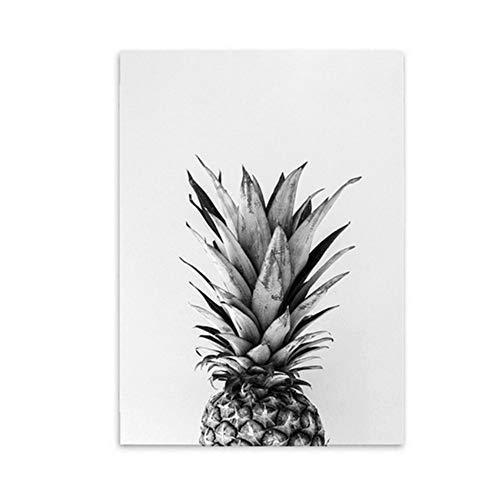 NIESHUIJING Druck auf Leinwand Ananas-Poster Nordische Wandkunst Leinwanddruck Wandbild für Wohnzimmerdekoration Schlafzimmer Küchendekor 50 x 70 cm (19,6 Zoll x 27,5 Zoll) Kein Rahmen