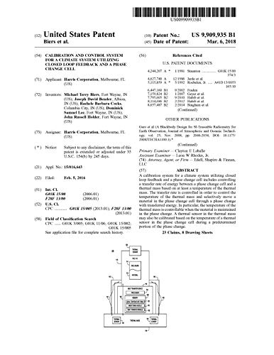 Calibration and control system for a climate system utilizing closed loop feedback and a phase change cell: United States Patent 9909935 (English Edition)