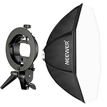 Neewer 32x32 inches/ 80x80 Centimeters Octagonal Speedlite Softbox with S-Type Bracket Holder Bowens Mount for Nikon Canon Sony Pentax Olympus Panasonic and Other Strobe Flashes