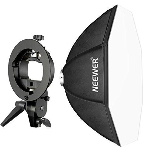 Neewer 80x80-centímetro Speedlite Octagonal Softbox con Soporte de Brazo Tipo-S, Montaje Bowens para Nikon, Canon, Sony, Pentax, Olympus, Panasonic y Otros Flashes Estroboscópicos