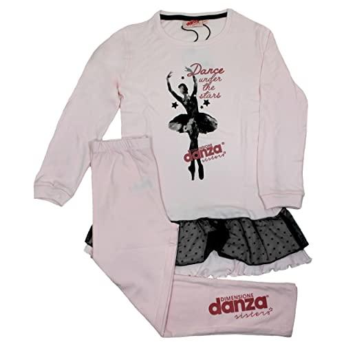 Dimensione Danza Pigiama Bimba Caldo Cotone Interlock Grigio Melange 22123K (6)