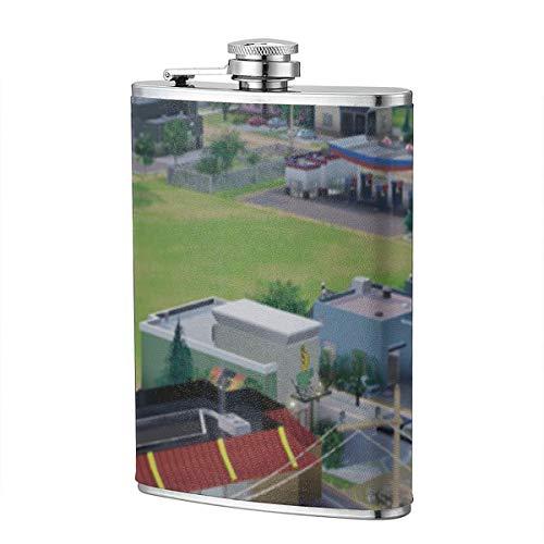 SimCity Building McDonald 8OZ Schnapsflasche mit Trichterflasche im Freien