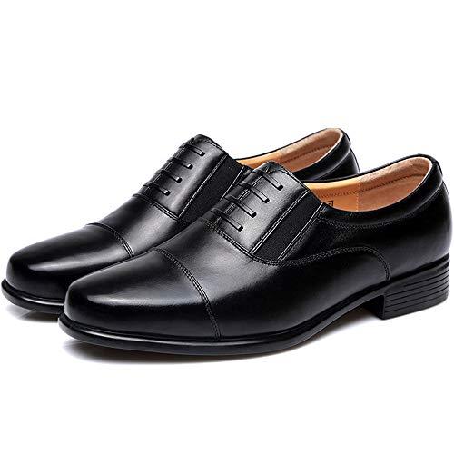 N / A Herren Business Schuhe Derby Kleid Schuhe schnüren sich oben Schuhe Brautmode Hochzeit,Black-44