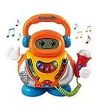 VTech-80-108022 Kidikaraoke Karaoke interactivo para aprender las canciones más populares, pantalla LCD, transforma tu voz de 4 formas distintas,...