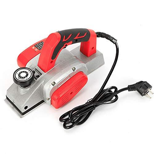 OUKANING Cepillo eléctrico Cepillo de Madera Cepillo Manual Cepillo eléctrico con Ancho de Cepillado 82mm + Afilador de Cuchillos