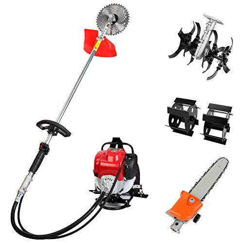 Lowest Prices! Robbey Gas String Trimmer 4-Cycle Grass Cutter Machine Gas Powered 4 in 1 Lawn Mower ...