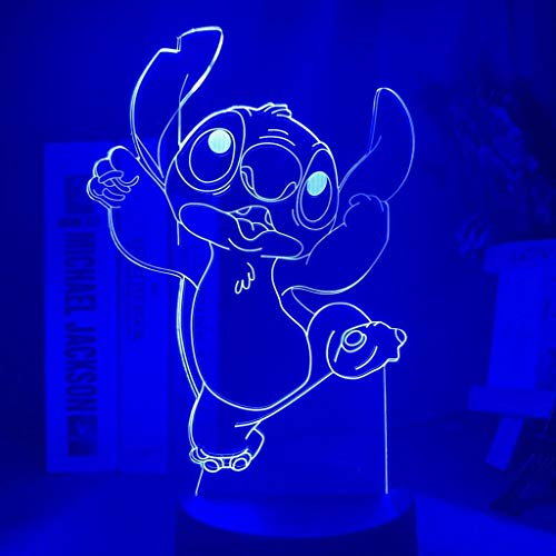 New 3D Acrylic Night Light Anime Manga Star Baby Stitch LILO andLED 7 Colour Night Light Touch Table Lamp Night Light Lilo Stitch 3D Acrylic LED Touch Table Desk Room Lamp Gifts 7 Colour