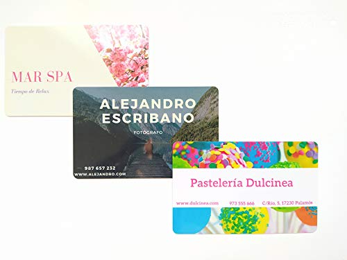 CREA tu TARJETA de FELICITACIÓN PVC - detalle especial y personalizado - Tamaño ISO estándar: 85,7 x 54 mm (visa) - ideal para regalar, celebraciones, cumpleaños, etc... (TU DISEÑO)