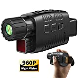 "JStoon Night Vision Monocular Infrared Night Vision Scope Digital Monocular with 1.5"" TFT LCD Take Photo/Video Recording/Playback Function for Outdoor/Surveillance/Camping/Hiking/Bird Watching"
