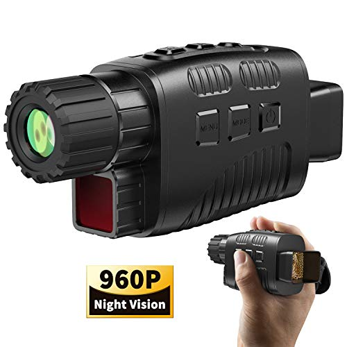 "JStoon Digital Night Vision Monocular, Night Vision Scopes with 1.5"" LCD Infrared Monocular Allows Viewing in The Dark - Records Images and Video for Outdoor/Surveillance/Camping/Hiking/Bird Watching"