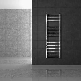 ECD Germany Radiador toallero de baño Cromo - 500 x 1400mm - Radiador calentador y secador de toallas - No eléctrico - Radiador calefactor de baño - 455 W - Radiador toallero de pared - Estilo moderno