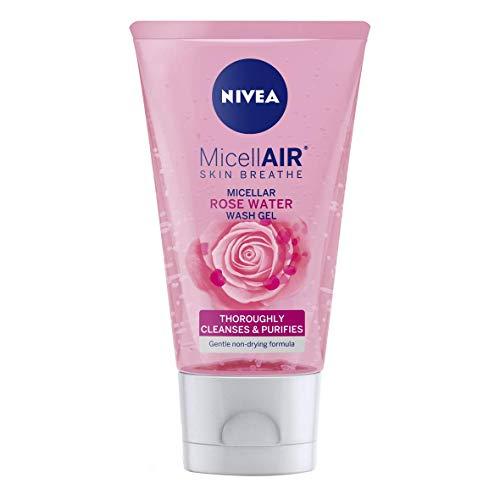 NIVEA MicellAIR Rose Micellar Water Face Wash Gel (150 ml) 6er Pack (6 x 150 ml)