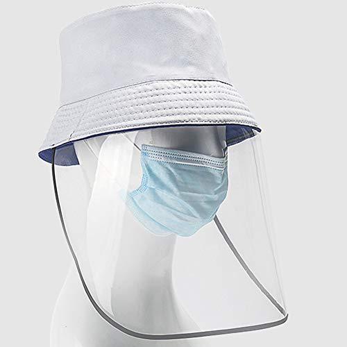 Zonnehoed Veiligheidshelm Winddicht zand UV-bescherming Speeksel tegen speeksel Visser hoed Herbruikbaar Bucket hoed Bescherm ogen en gezicht