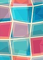 igsticker ポスター ウォールステッカー シール式ステッカー 飾り 1030×1456㎜ B0 写真 フォト 壁 インテリア おしゃれ 剥がせる wall sticker poster 007393 その他 カラフル 青 ブルー 模様
