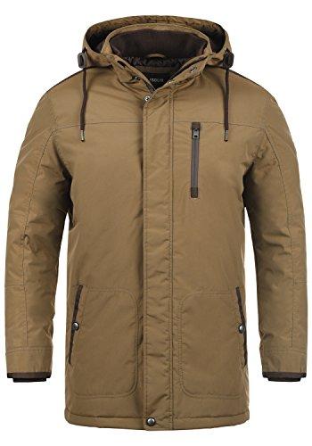!Solid Dempsey Herren Parka Lange Winterjacke Mantel mit Kapuze aus hochwertiger Materialqualität, Größe:M, Farbe:Sepia (5075)